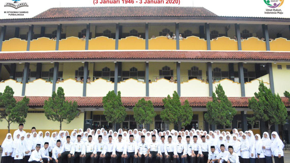 Hari Amal Bakti ke 74 Kementerian Agama RI di MI Istiqomah Sambas Purbalingga Tahun 2020