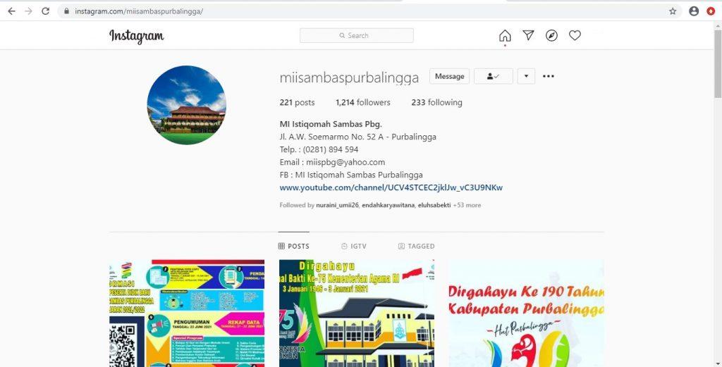 Instagram MI Istiqomah Sambas Purbalingga