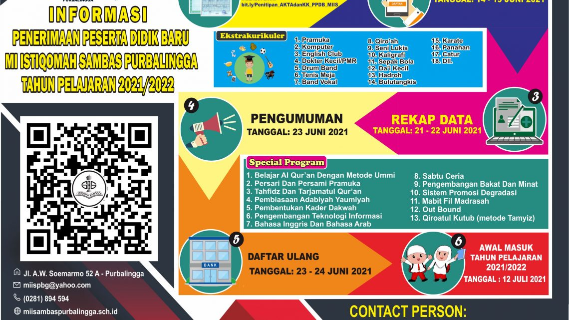 PPDB MI Istiqomah Sambas Purbalingga TP. 2021/2022