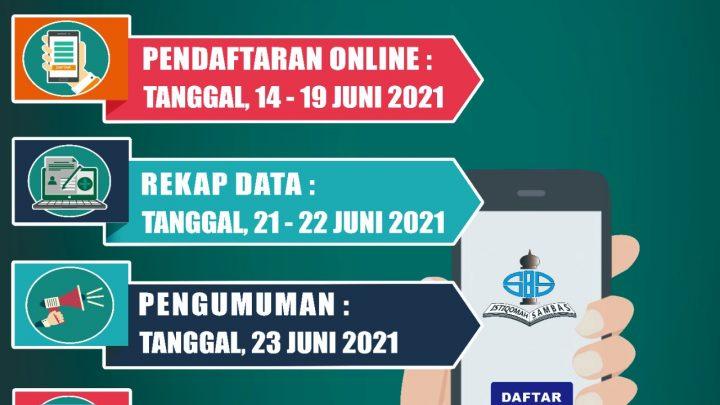 Pengumuman PPDB MI Istiqomah Sambas TP.2021/2022